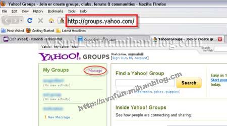 راهنمای تصویری حذف عضویت از گروه های یاهو